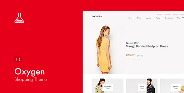 Oxygen v4.2 — WooCommerce WordPress Theme