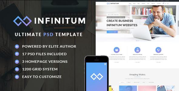 Infinitum — Ultimate PSD Template