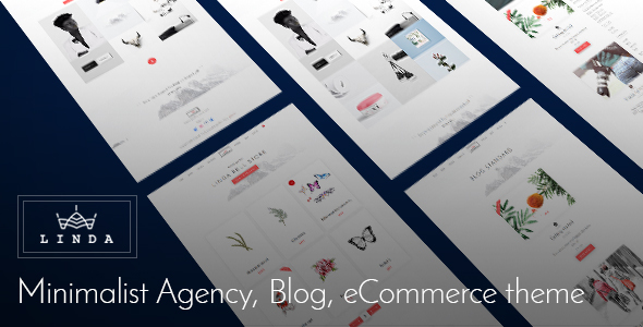 Linda Bell v1.0 — Minimalist Agency, Blog, eCommerce