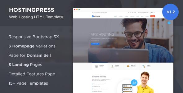 HostingPress v1.2.1 — Web Hosting HTML Template