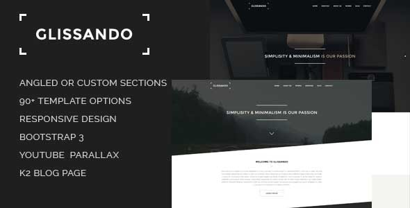 Glissando — Creative and Minimal Joomla Template
