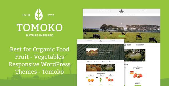 Tomoko v1.0 — Organic Food/Fruit/Vegetables Theme