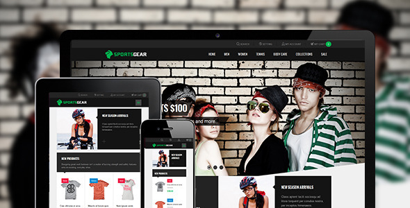 Sportsgear v1.0.4 — Magento theme for Sport stores
