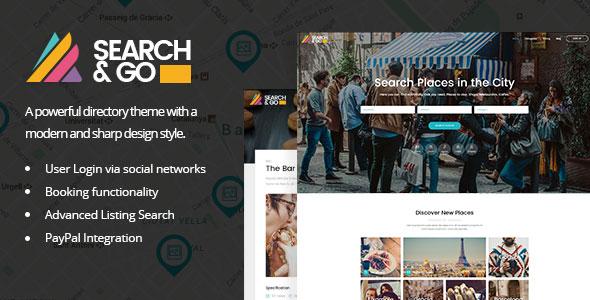 Search & Go v1.8 — Modern & Smart Directory Theme
