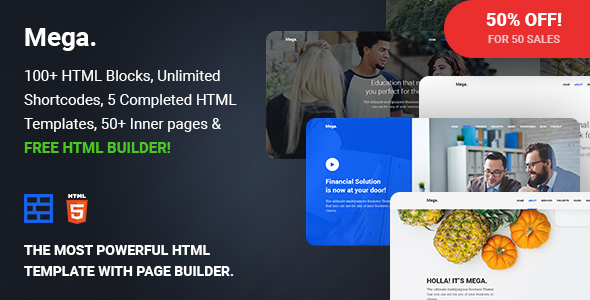 Mega — Multipurpose Responsive Template with Page Builder