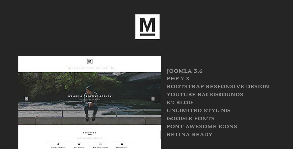 Max v1.4 — Creative & Minimal One Page Joomla Template