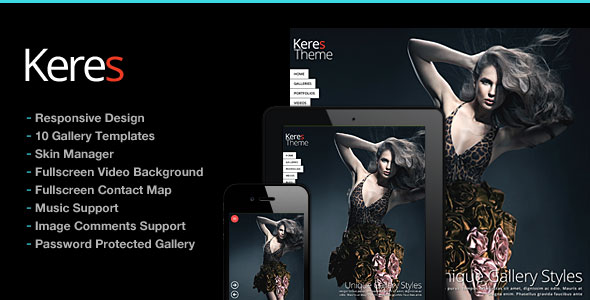 Keres v2.6 — Fullscreen Photography Theme