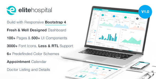Elite Hospital — Bootstrap 4 Admin Template