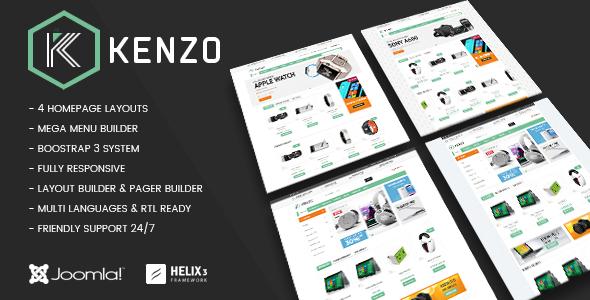 Vina Kenzo — Responsive VirtueMart Joomla Template