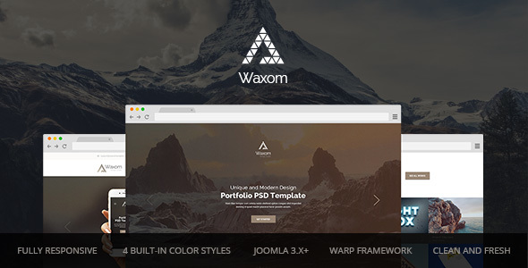 Waxom — Clean and Universal Responsive Joomla Template