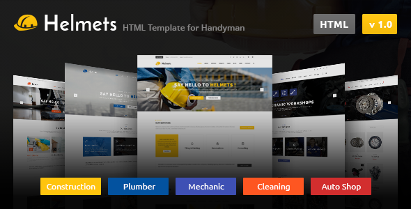 Helmets — HTML Template for Handyman