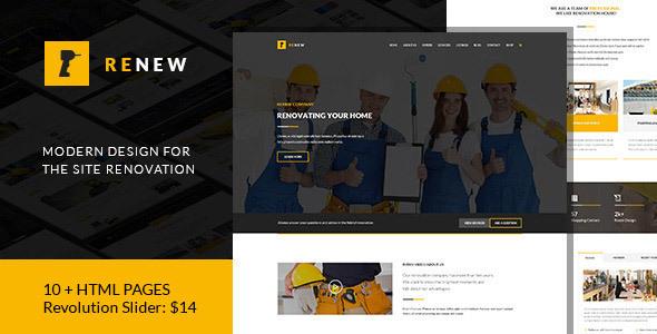 Renew — Renovation, Repair & Construction HTML