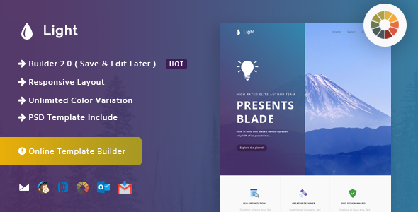 Light — Responsive Email and Newsletter Template