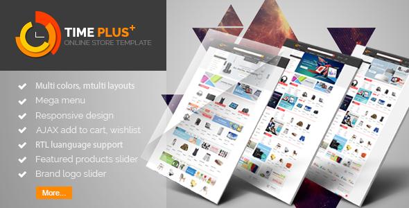 TimePlus v1.1 — Mega Store Responsive Prestashop Theme