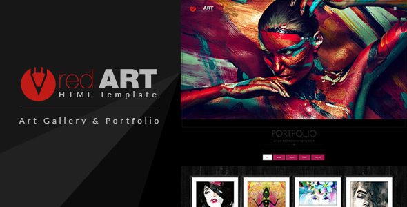 Red Art — HTML Portfolio / Art Gallery Website Template