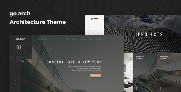 go.arch v1.0.9 — Architecture and Interior WordPress Theme