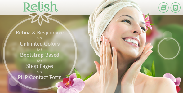 Relish — Spa Salon HTML Template