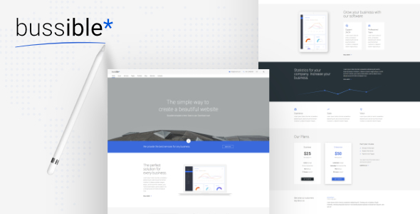 Bussible — Soft Material Corporate, Finance, Startup HTML Template