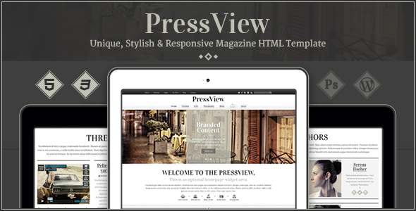 PressView — Vintage and Stylish Magazine Template