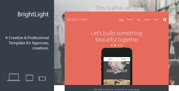 Bright Light Responsive Creative Template
