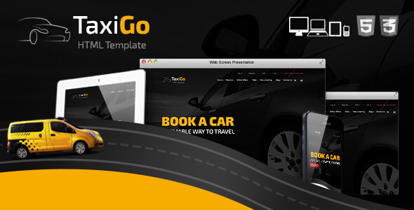 TaxiGo — Taxi Company & Cab Service Website Template