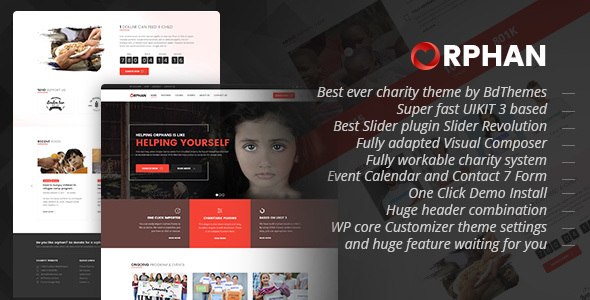 Orphan v1.0 — Charity WordPress Theme
