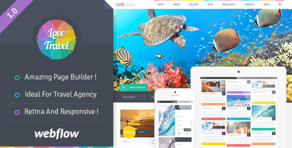 Love Travel — Travel Agency For Travel And Tour Webflow