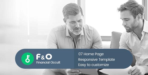 F&O — Consultant Finance HTML Templates