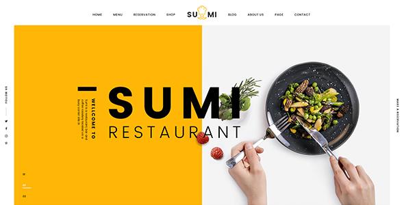 Sumi v1.1 — Restaurant HTML Template