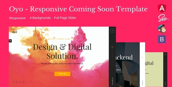 Oyo — Responsive HTML5 Coming Soon Template