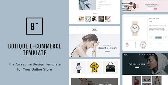 Botique — Responsive Multi-Purpose eCommerce PSD Template