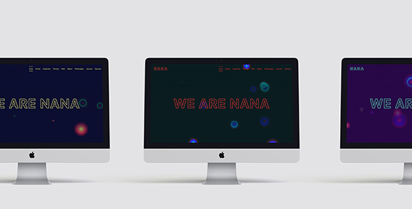 Nana – Minimalistic One-Pager With Animated Background