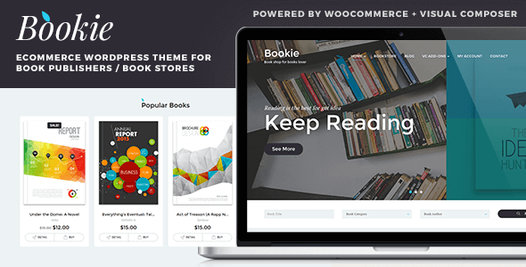 Bookie v1.2.1 — WordPress Theme for Books Store