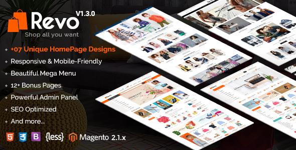 Revo v1.3.0 — Responsive Magento 2 Shopping Theme