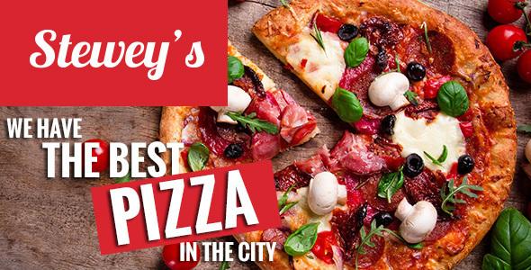 Steweys — Fast Food, Pizza HTML Theme