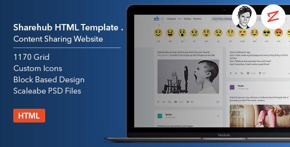 Sharehub Content Sharing HTML Template