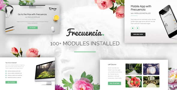 Frecuencia — 100+ Modules — Email + Online Template Builder