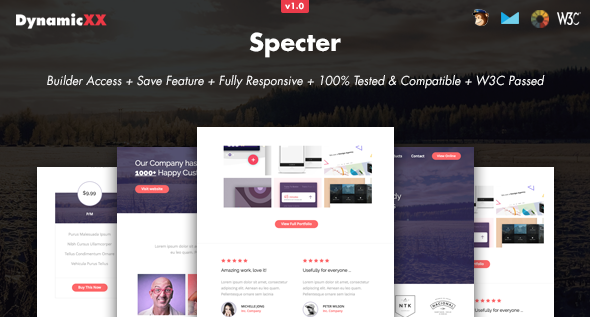 Specter — Responsive Email + Online Template Builder