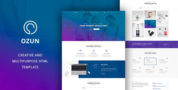 OZUN — Multipurpose HTML Template