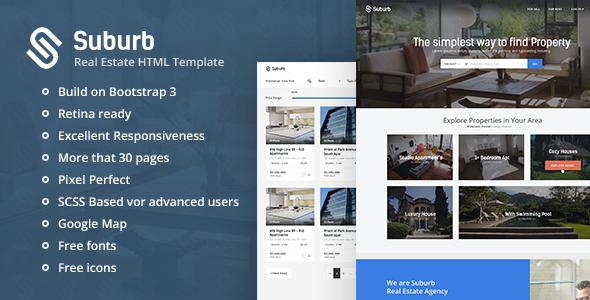 Suburb v1.3 — Real Estate HTML Template