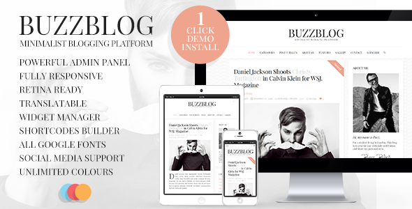 BuzzBlog v2.6 — Clean & Personal WordPress Blog Theme