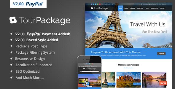 Tour Package v2.06 — WordPress Travel/Tour Theme