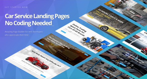 Avados — Car Service Landing Pages with Page Builder