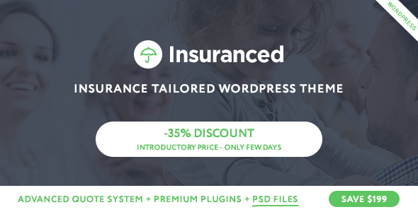 Insuranced v1.0 — Insurance WordPress Theme