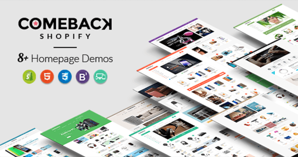 Comeback — Advanced Shopify Theme Option | Drag and Drop Page Builders