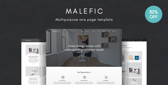 Malefic — Multipurpose One Page HTML5 Template