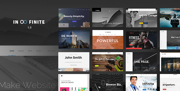 Infinite v1.5.6 — Responsive Multi-Purpose WordPress Theme