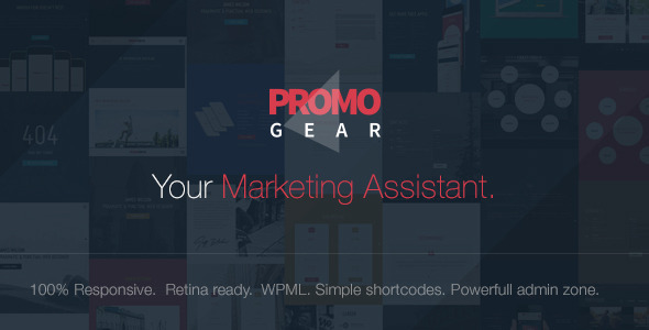 PromoGear v1.0.6 — Creative One Page Multipurpose Theme