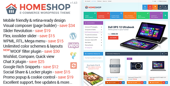 Home Shop v1.4.3 — WooCommerce Theme