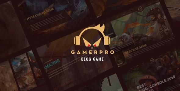 GAMERPRO v1.0.1 — Fantastic Blog theme for GAME SITES